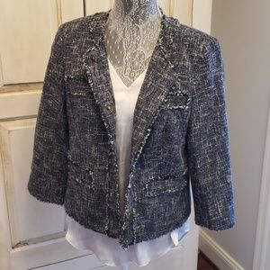 MICHAEL KORS TWEED LOOKING BLAZER JACKET
